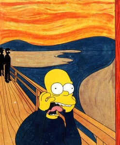 Homer Simpson via Edvard Munch